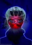 Optimale Sicherheit durch Sichtbarkeit bietet eine in den Helm integrierte Rückleuchte.