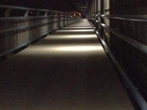 Beleuchtung des Radwegs Praterbrücke